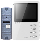 Комплект цветного видеодомофона CTV-DP1400 (W/B)